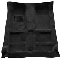 Mustang Mass Back Floor Carpet  Black (05-09)