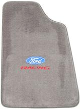 Mustang Floor Mats w/ Ford Racing Logo - Opal Gray  (93-93)