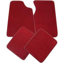 Mustang Medium/Scarlet Red Floor Mats (82-92)