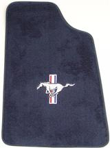 Mustang Floor Mats w/ Pony Logo Regatta/Royal Blue  (85-93)