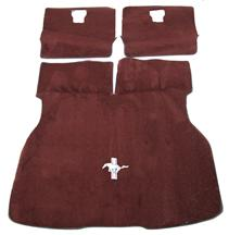 Mustang Hatch Area Carpet with Running Pony Logo Scarlet Red (87-92)