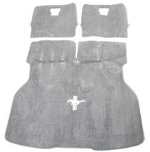 Mustang Hatch Area Carpet with Running Pony Logo Titanium Gray (90-92)