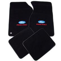 Mustang ACC  Floor Mats with Ford Racing Logo Black  (94-98)