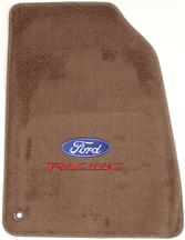 Mustang ACC Floor Mats with Ford Racing Logo Parchment Tan  (99-04)