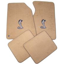94-98 MUSTANG SADDLE TAN FLOOR MATS W/ COBRA SNAKE LOGO