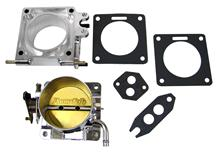 Mustang Accufab 75mm Throttle Body w/ EGR Spacer Polished  (86-93) 5.0L