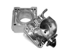 Mustang Accufab 75mm Polished Throttle Body with Solid EGR Spacer (86-93)