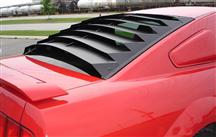 Mustang Rear Window Louvers, Aluminum (05-14)