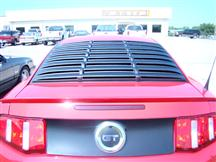 2005-14 Mustang Plastic Textured Rear Window Louvers