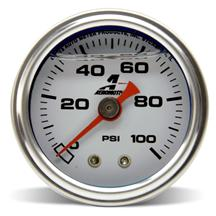 Aeromotive Mechanical Fuel Pressure Gauge - Liquid Filled 1.5""