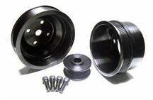 Mustang ASP Black Aluminum Underdrive Pulley Kit (79-93)