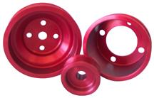 Mustang ASP Aluminum Underdrive Pulley Kit Red (79-93) 5.0