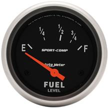 "Mustang Autometer Sport Comp Fuel Level Gauge  2 1/16"" (79-86)"