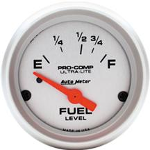 "Mustang Auto Meter Pro Comp Ultra Lite Fuel Level Gauge 2 1/16"" (79-86)"