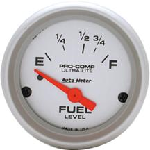 "Mustang Auto Meter Pro Comp Ultra Lite Fuel Level Gauge 2 1/16"" (87-97)"