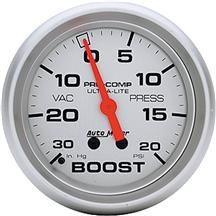Autometer  Ultra-Lite 20 PSI Vacuum Boost Gauge - 2 5/8""