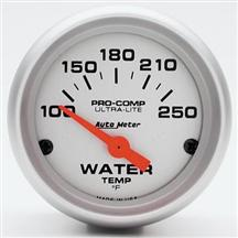 "Autometer  2 5/8"" Ultra Lite Short Sweep Coolant Gauge"