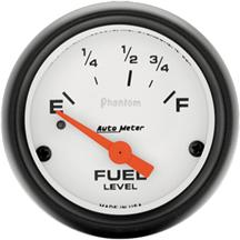 "Mustang Auto Meter Phantom Fuel Level Gauge 2 1/16"" (79-86)"