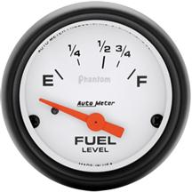 "Mustang Auto Meter Phantom Fuel Level Gauge 2 1/16"" (87-97)"