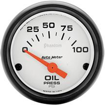 Autometer  Phantom Oil Pressure Gauge - 2 1/16""
