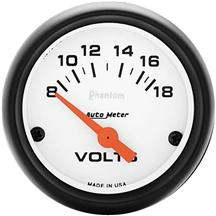 "Autometer  2 1/16"" Phantom Voltmeter Gauge"