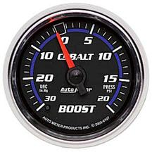 Auto Meter Cobalt Vacuum/Boost Pressure Gauge 20 PSI Mechanical, 2 1/16""
