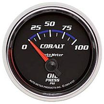 Autometer Cobalt Oil Pressure Gauge, Electric 2 1/16""