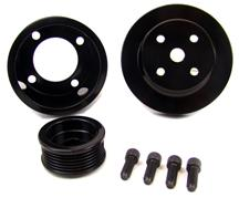 Mustang BBK 5.0L Black Steel Underdrive Pulley Kit (79-93)