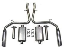 Mustang Bassani Cobra Cat-Back System Aluminized (03-04)
