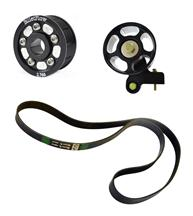 "Mustang BilletFlow  2.76"" Supercharger Pulley Kit Black (03-04) 4.6L"