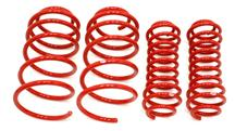 Mustang BMR Lowering Spring Kit - Progressive Rate  Red (05-14)