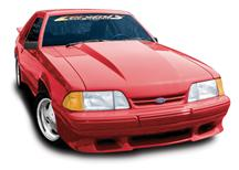 "Mustang Cowl Induction Lift-Off Fiberglass Hood 2.5"" Rise (87-93)"