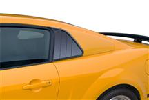 Mustang Cervini's Quarter Window Covers Old Style (10-14)