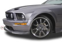 Mustang Cervini's Type 2 Front Chin Spoiler Black Textured  (05-09)