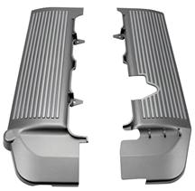 Mustang Fuel Rail Covers Silver Finned (05-10) 4.6L 3V