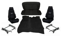 82-93 Mustang Coupe Corbeau Black GTs 2 Interior Upgrade Kit