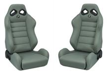Mustang Corbeau TRS Seat Pair Gray Cloth