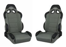 Mustang Corbeau CR1 Wide Seat Pair Gray Cloth