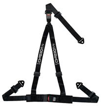 "Corbeau 2"" 3 Point Bolt In Double Release Harness Black"