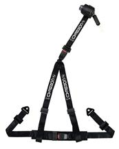 Corbeau 3 Point Bolt In Retractable Harness Black