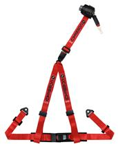 "Corbeau 2"" 3 Point Bolt In Retractable Harness Red"
