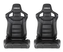 Corbeau Sportline RRS Seat, Pair. Black Vinyl, Carbon Vinyl. Fits all current corbeau seat tracks  http://www.corbeau.com/products/reclining_seats/sportline_rrs/