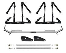 "Mustang Corbeau 2"" Bolt In 4 Point Harness & Bar Kit Black (79-93)"
