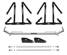 "Mustang Corbeau 2"" Bolt In 4 Point Harness & Bar Kit Black (94-04)"