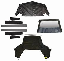1991-92 Mustang Black Convertible Top Kit