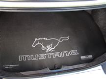 Mustang Fender Gripper Trunk Mat w/ Silver Pony Logo (05-14) Coupe