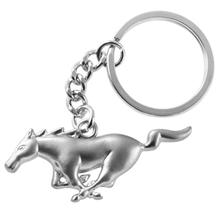 Mustang Running Pony Key Chain Pewter