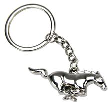 Mustang Running Pony Keychain Polished