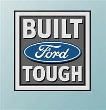 Built Ford Tough Logo Wall Graphic