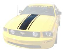 Mustang Boss Hood Stripe Black (05-09)